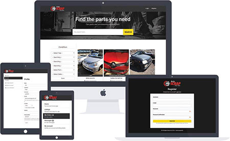 Auto Scrap Yards web development