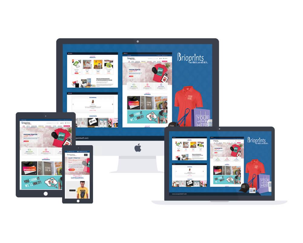 Brioprints web development