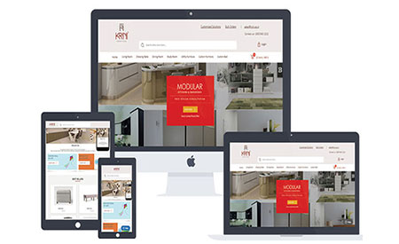 Krini Furniture web development